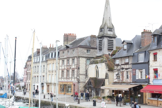 The streets and harbour of Honfleur during our winter break