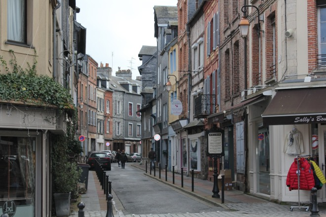 The streets of Honfleur during our winter break