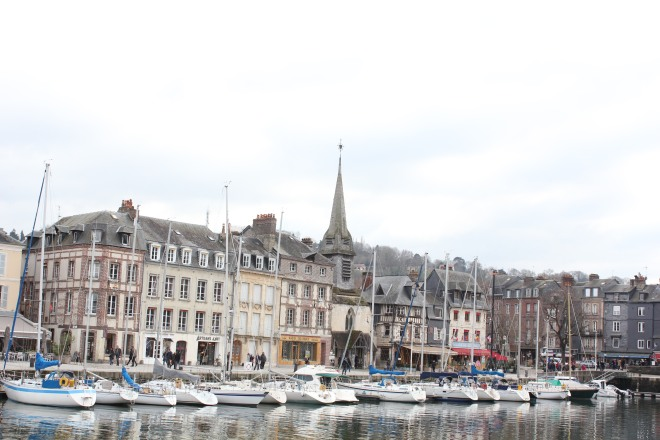 The harbour of Honfleur during our winter break