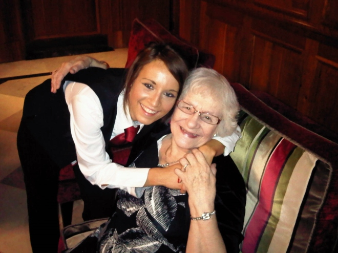 Grandmother proud of her Granddaughter working at The Ascot Bar, Pennyhill Park
