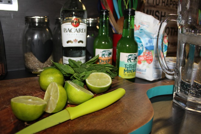 Cut limes ready for the cocktails for a girls night in