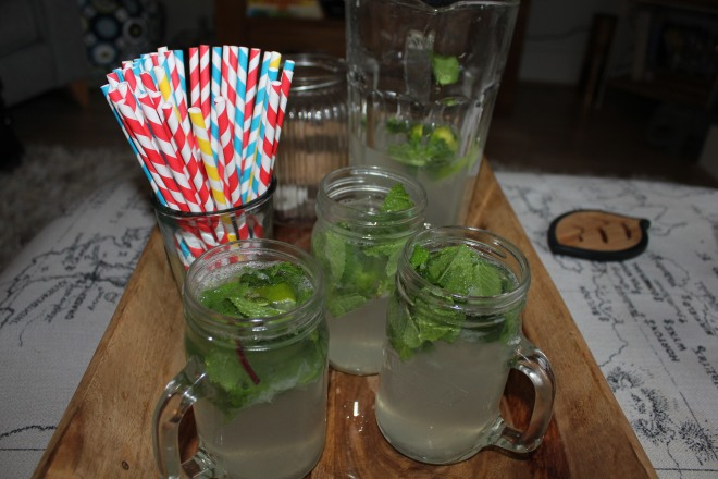 Homemade cocktails at a girls night in