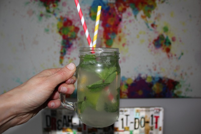 Homemade cocktails during a girls night in