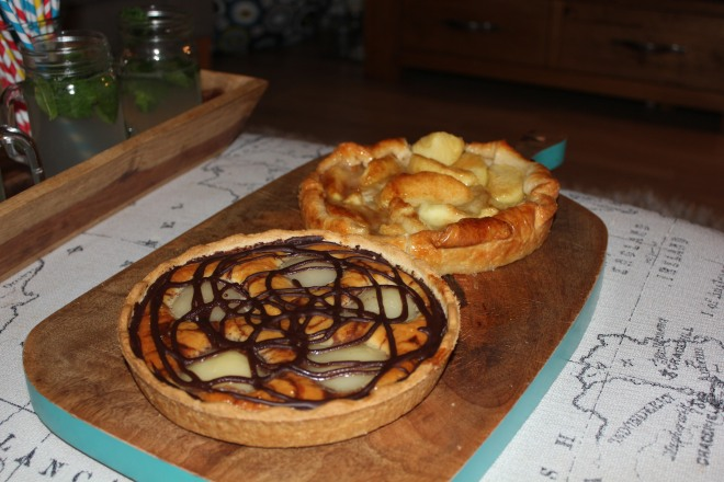 Pies part of our girl's night in