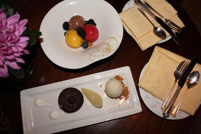 Desserts at The Ascot Bar, Pennyhill Park Hotel