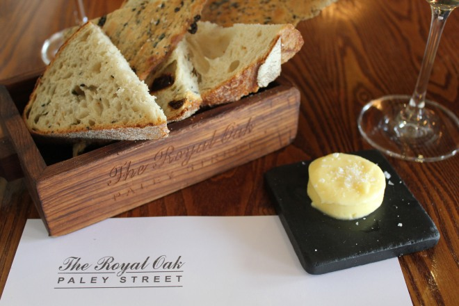 Bread and butter at The Royal Oak, Paley Street