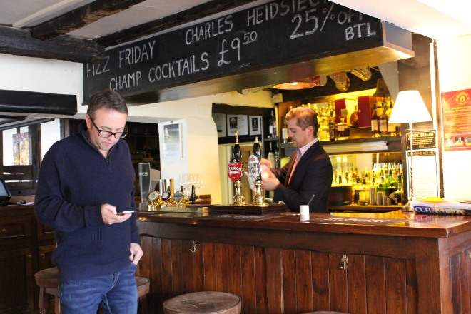 The bar at The Royal Oak, Paley Street