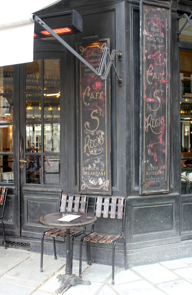 Cafe St Regis on unspoiled Ile Saint-Louis, Paris