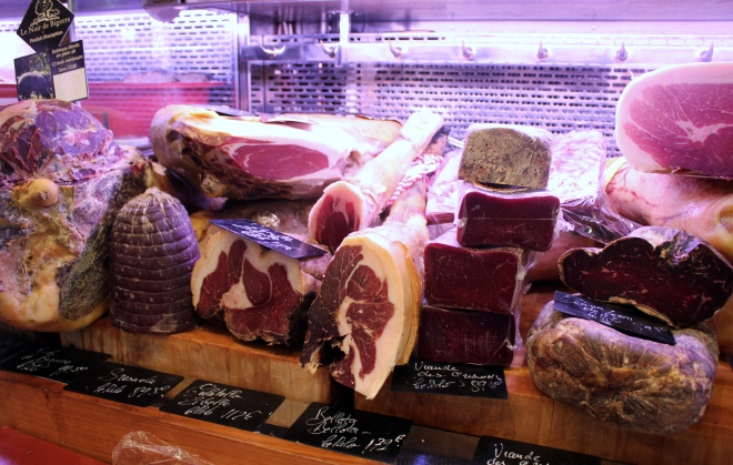 Inside a butcher's on the unspoiled Ile Saint-Louis, Paris